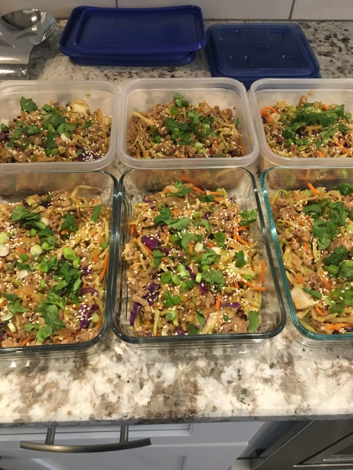 egg roll in a bowl meal prep