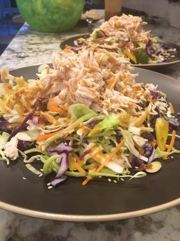Thai Chicken Salad Side Shot