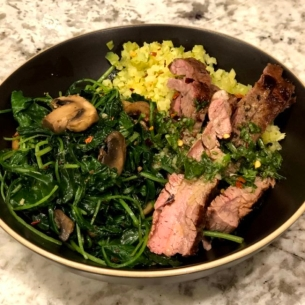 Flank Steak Basil Vinaigrette