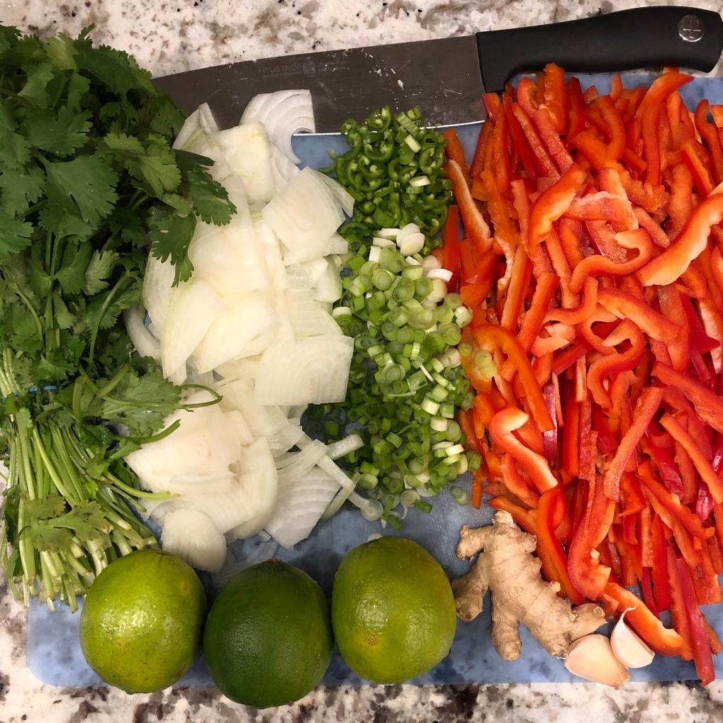 tom kha veggies